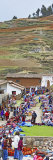 Group of People in a Market  Chinchero Market  Andes Mountains  Urubamba Valley  Cuzco  Peru