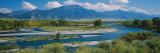 High Angle View of a Lake  Snake River  Swan Valley  Bonnev  Idaho  USA