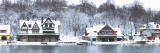 Boathouse Row at the Waterfront  Schuylkill River  Philadelphia  Pennsylvania  USA