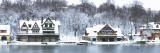 Boathouse Row at the Waterfront  Schuylkill River  Philadelphia  Pennsylvania  USA