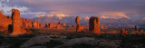 Rock Formations in a National Park  Arches National Park  Utah  USA