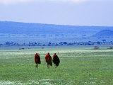 Maasai on Serengeti Africa