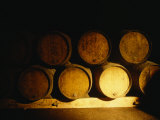 Barrels in a Cellar  Chateau Pavie  St Emilion  Bordeaux  France