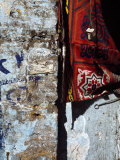 Close-up of a Cloth Hanging on a Wall  Egypt