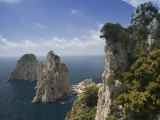 High Angle View of Rock Formations in the Sea  Capri  Bay of Naples  Campania  Italy