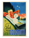 "Advertising Poster ""Estate Nelle Dolomiti"""