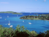 Us Virgin Islands  St John  Caneel Bay  High Angle View of Boats in the Sea