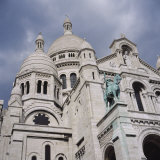 Low Angle View of a Church  Basilique Du Sacre Coeur  Montmartre  Paris  France
