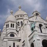 Low Angle View of a Church  Basilique Du Sacre Coeur  Montmartre  Paris  France