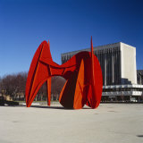 Sculpture in Front of a Building  Alexander Calder Sculpture  Grand Rapids  Michigan  USA