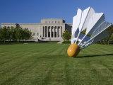 Gaint Shuttlecock Sculpture in Front of a Museum  Nelson Atkins Museum of Art  Kansas City