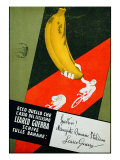 "Advertising Poster ""Sportivi! Mangiate Banane Italiane"""