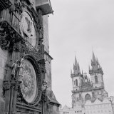 Low Angle View of an Astronomical Clock on a Government Building  Old Town Hall  Prague