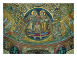 Apsidal Mosaic in Santa Maria Maggiore  Rome Christ Crowning the Virgin