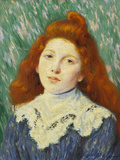 Girl with White Small Collar