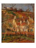 Red Roofs, Corner of a Village, Winter Giclée par Camille Pissarro