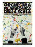 Poster of Philharmonic Orchestra of La Scala Theatre: Symphony Concert Conducted by Lorin Maazel