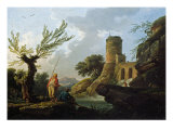 Landscape with Fishermen by a Torrent