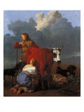 Landscape with Milkmaid and Cow