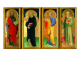 Polyptych with St Paul  St Nicholas of Tolentino  St Peter and St Lawrence