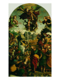 Raising of Lazarus and Fight Between St Michael and the Devil