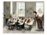 Public Kindergarten Students Modeling Clay  Boston  Massachusetts  1870s