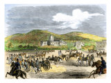 Artillery Demonstration at the Us Military Academy When Visited by the Prince of Wales  1850s