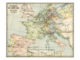 Map of Europe in 1810  During the Napoleonic Wars