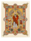 Saint Matthew  an Illuminated Manuscript Page from the Book of Kells  8th or 9th Century Ad