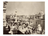 Court of Honor and Central Basin of the Columbian Exposition  Chicago  1893