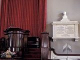 Memorial to John and Abigail Adams Next to the Pulpit in their Church in Quincy  Massachusetts