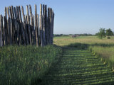 Mound and Part of Village Stockade at Aztalan  Middle Mississippian Moundbuilders Site in Wisconsin