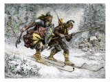 Birchlegs Carrying Prince Hakon Hakonson to Safety over the Mountains  a Norwegian Legend