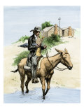 Itinerant Preacher Riding a Mule from Settlement to Settlement