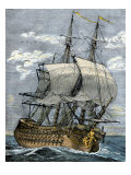Armed French Frigate of the 18th Century