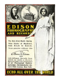 Advertisement for Edison Phonographs and Records  National Phonograph Co  1901