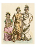 Women of Jaffna  Ceylon  in their Finest Traditional Clothing