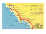 Map of the Camino Real  California Missions