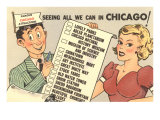 Cartoon Checklist of Sites  Chicago  Illinois