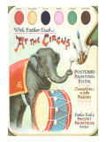 Elephant Beating Drum  Circus Painting Book