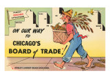Cartoon of Chicago Board of Trade  Chicago  Illinois
