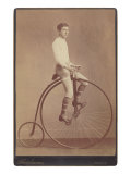 Man on Vintage Bicycle