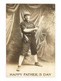 Happy Father's Day  Vintage Baseball Player