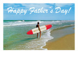Happy Father&#39;s Day  Surfer on Shore