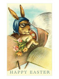 Rabbit in Goggles and Vintage Airplane