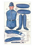 Policeman Paperdoll