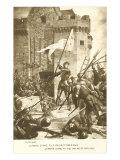 Scene of Jeanne d'Arc in Battle