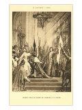 Scene of Jeanne d'Arc at the Pantheon  Paris