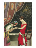 Fortune Teller Reading Flapper&#39;s Palm