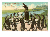 Alligator Chorus Singing Happy Birthday
